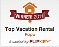 Winner 2011 Top Vacation Rental on TripAdvisor
